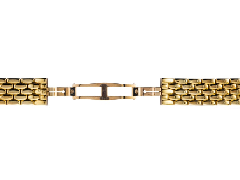 Women's 18 Karat Yellow Gold New Old Stock Jaeger-LeCoultre Reverso Lady Watch For Sale