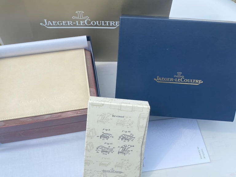 18 Karat Yellow Gold New Old Stock Jaeger-LeCoultre Reverso Lady Watch For Sale 1