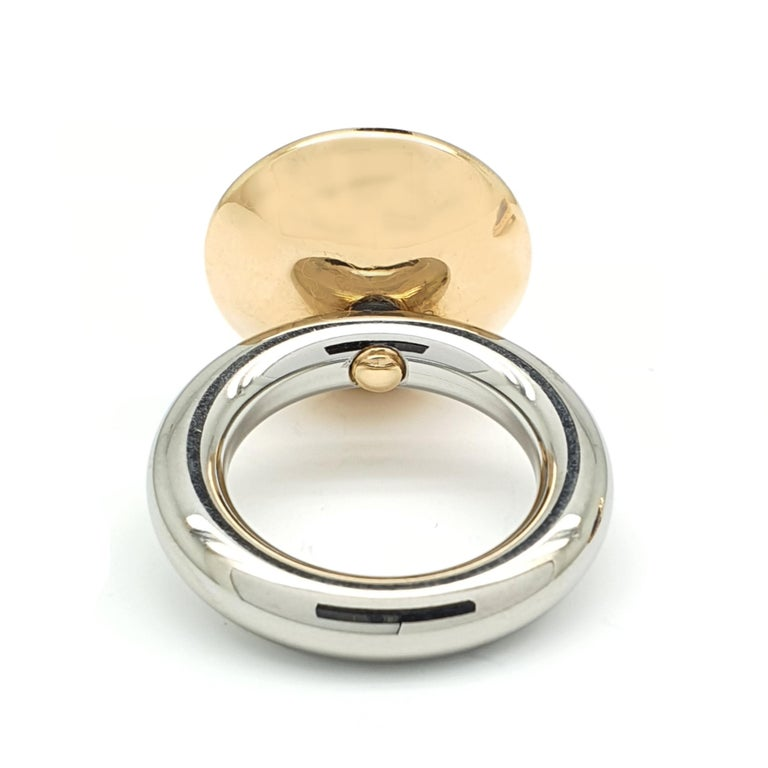Round Cut 18 Karat Rose Gold Ring or Necklace Component with Lapis Lazuli and Diamonds For Sale