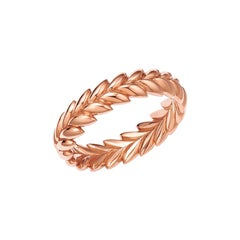 18kt Fairmined Ecological Gold Ethereal Laurel Leaf Wedding Ring in Rose Gold