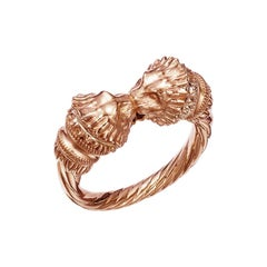 18kt Fairmined Ecological Gold Greek Lion Ring in Rose Gold