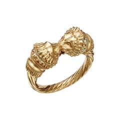 18kt Fairmined Ecological Gold Greek Lion Ring in Yellow Gold
