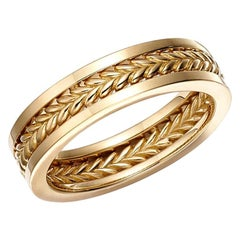 18kt Fairmined Ecological Gold Smitten Three Band Wedding Ring in Yellow Gold