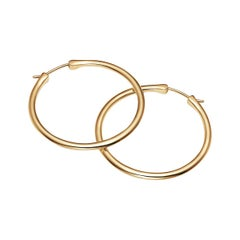 18kt Fairmined Ecological Yellow Gold Classic Large Hoops