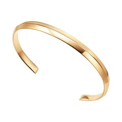 18kt Fairmined Ecological Yellow Gold Classic Ridged Amore Cuff Bracelet