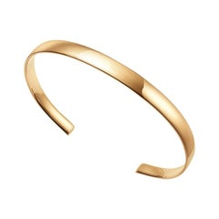 18kt Fairmined Ecological Yellow Gold Classic Round Sincerity Cuff Bracelet