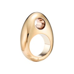 18kt Fairmined Ecological Yellow Gold Man Ray Le Trou Statement Ring