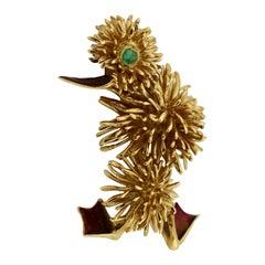 18 Karatt Gold Brooch, Kutchinsky, 1960s Design to Form a Duck