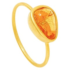 18KT Gold Hessonite Cup Ring