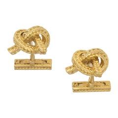 18 Karat Gold Knot Cufflinks