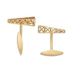 18 Karat Gold Novelty Cufflinks