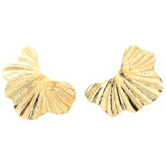 18kt gold plated baroque collection earrings NWOT