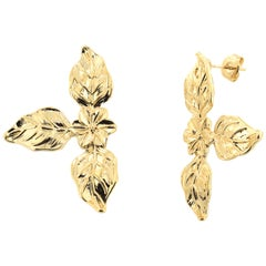 18kt gold plated Baroque Earrings