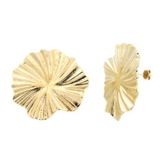 18kt gold plated baroque earrings NWOT