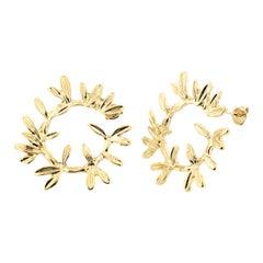 18kt gold plated earrings
