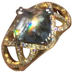 18 Karat Gold Ring Set with a 4.49 Carat Diamond