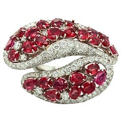 18kt Gold Ruby and Diamond Ring, 11ctw.