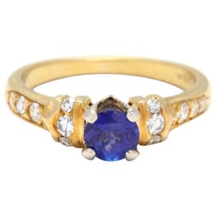18 Karat Gold, Sapphire and Diamond Ring