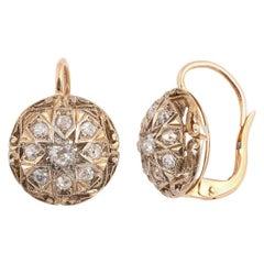 18 Karat Rose Gold and Diamond Cluster Ring
