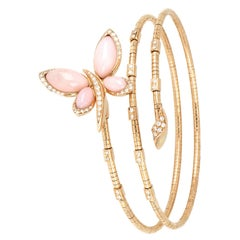 18kt Rose Gold Les Papillons Bracelet with Pink Opal and Round Diamonds