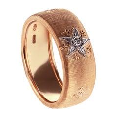 18kt Rose Gold Sprinkled with Leonardo da Vinci Cut Diamonds Caterina Band Ring