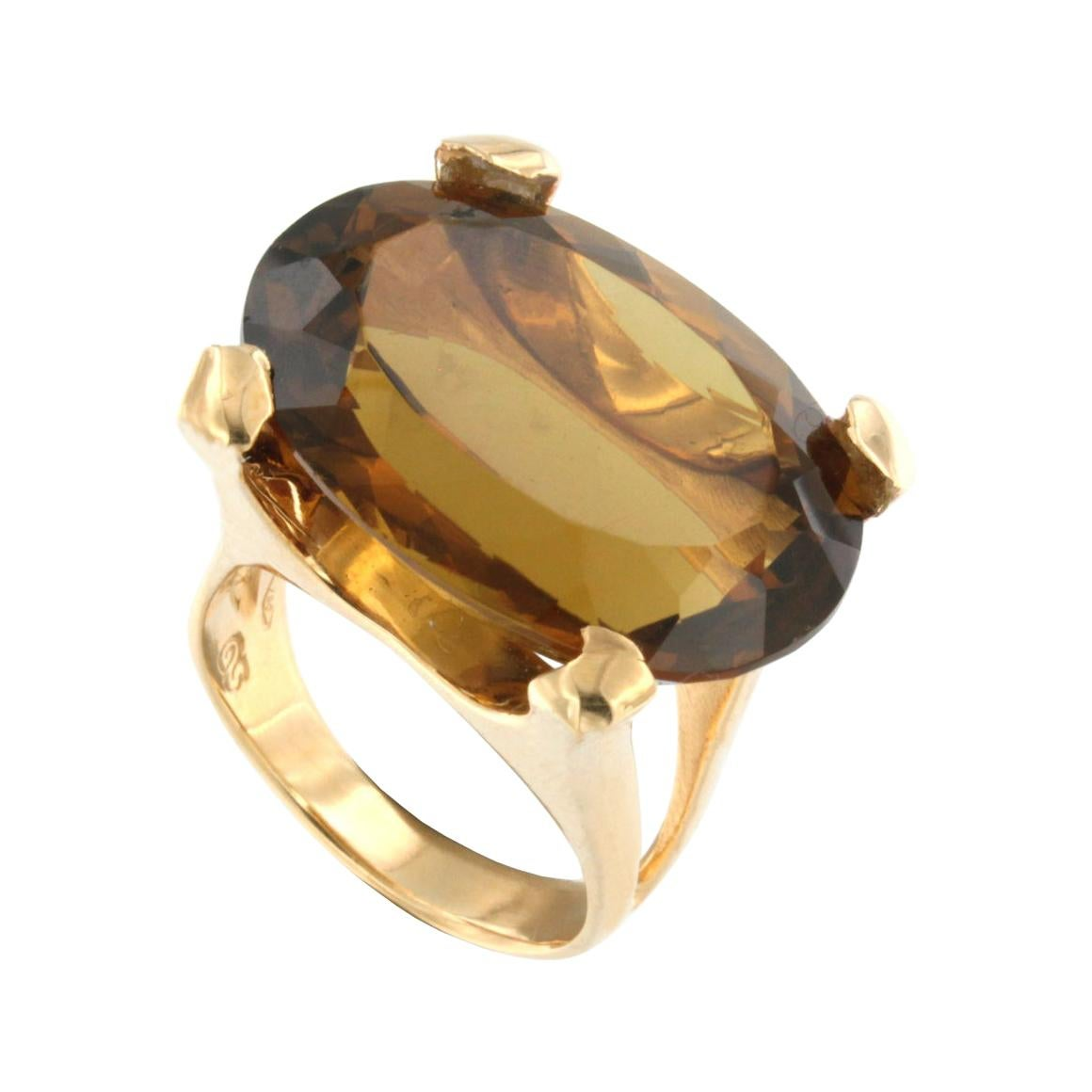 18Kt Rose Gold with Citrine Whisky Ring