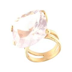 18kt Rose Gold with Pink Quartz Ring