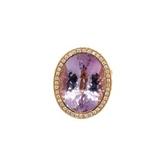 18kt Rose Gold Zorab Creations 12.18ct Amethyst Ring with Diamonds