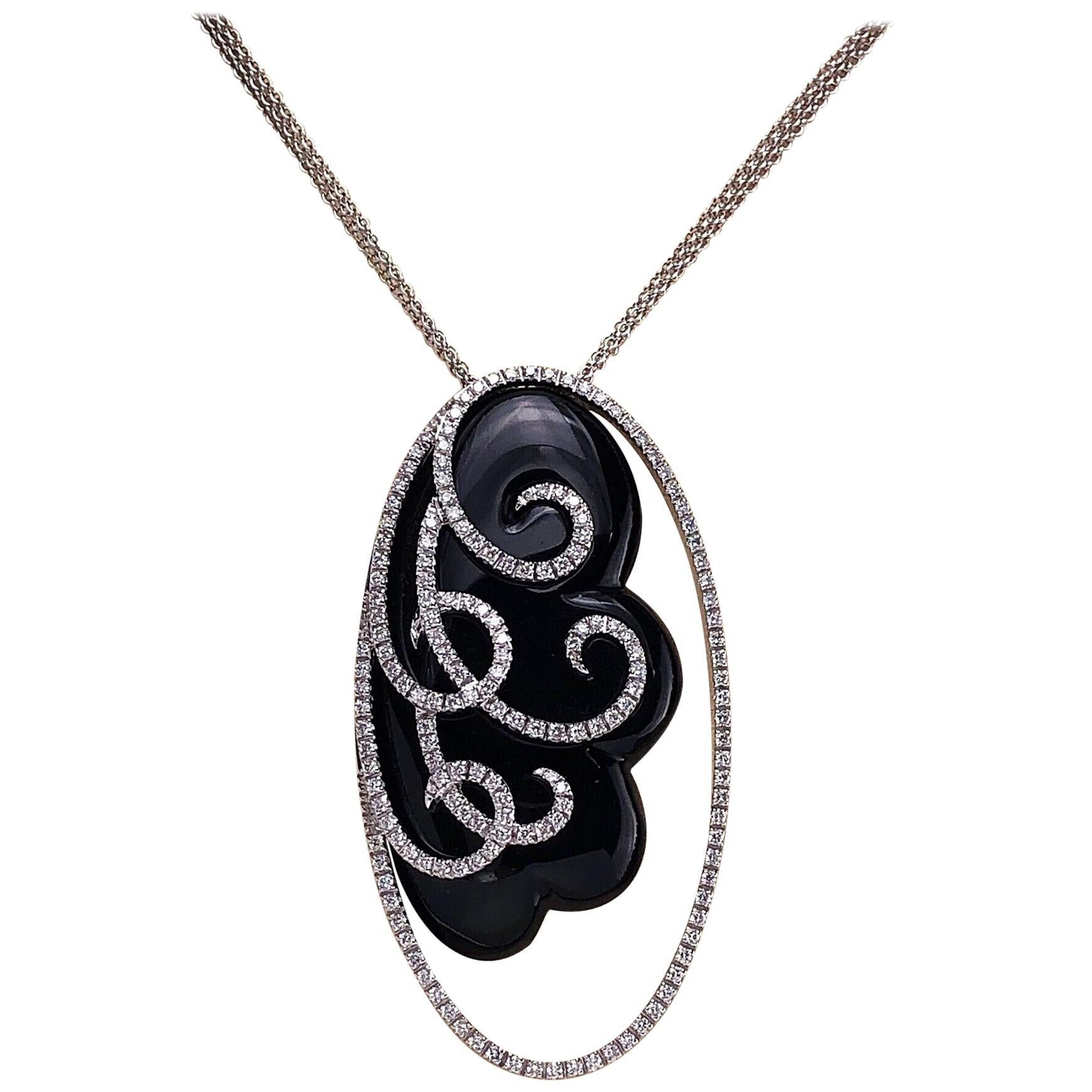 2e064638d4b Antique Onyx Necklaces - 491 For Sale at 1stdibs