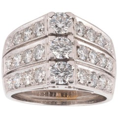 18 Karat White Gold and Diamond Dress Ring