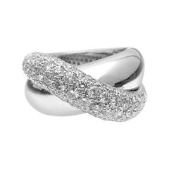 18kt White Gold Crossover Ring with 3.04ct of Diamonds