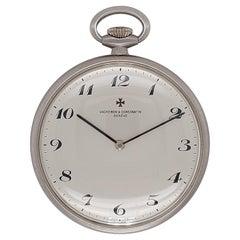 18kt White Gold Vacheron Constantin Pocket Watch, Ref 7874, Cal K453 Rare