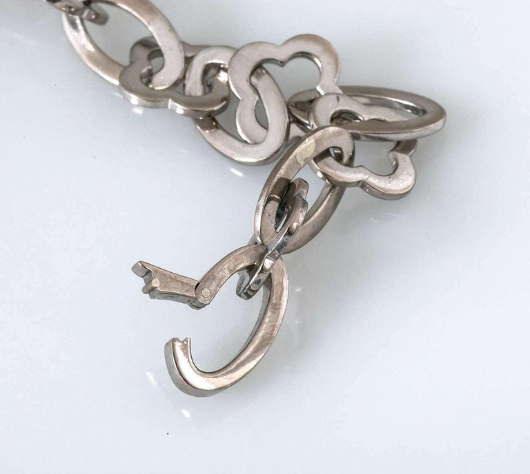Women's or Men's 18 Karat White Gold Van Cleef & Arpels Chain For Sale
