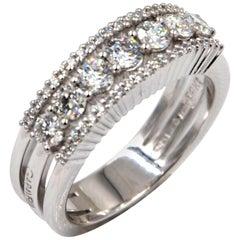 18 Karat White Gold White Diamonds Garavelli Band Ring
