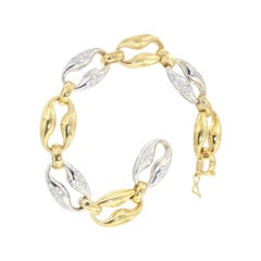 18kt Yellow and White Gold with White Diamonds Bracelet