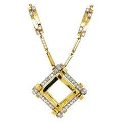 18KT Yellow Gold & 3.38Ct. Diamond Pendant Necklace