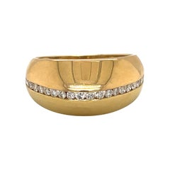 18kt Yellow Gold and Diamond 0.63ct Dome Ring