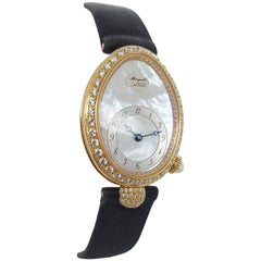 18kt Yellow Gold Breguet Reine de Naples, Automatic,Diamonds, MOP Dial, Ref.8928