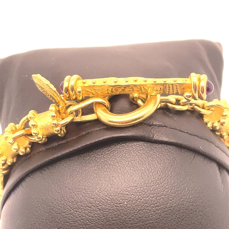 18 Karat Yellow Gold Denise Roberge Bracelet In Excellent Condition For Sale In Saint Louis, MO