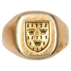 18kt Yellow Gold French Signet Ring