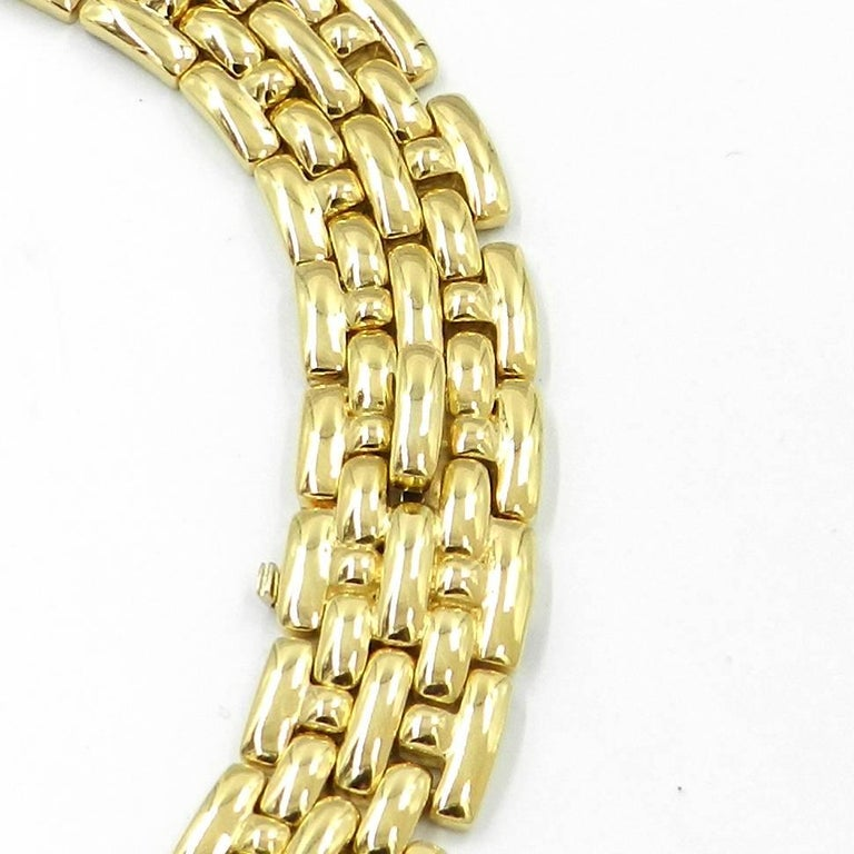 18Kt Yellow Gold Garavelli Link Necklace. Weight grs 116.60 Bracelet also available