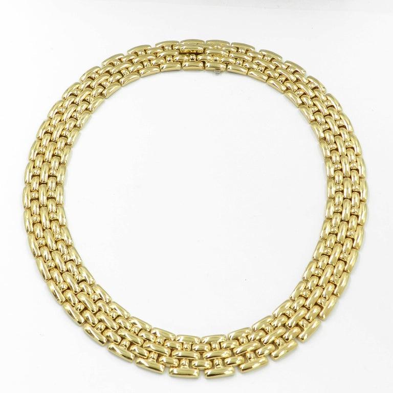 Modern 18 Karat Yellow Gold Garavelli Link Necklace For Sale