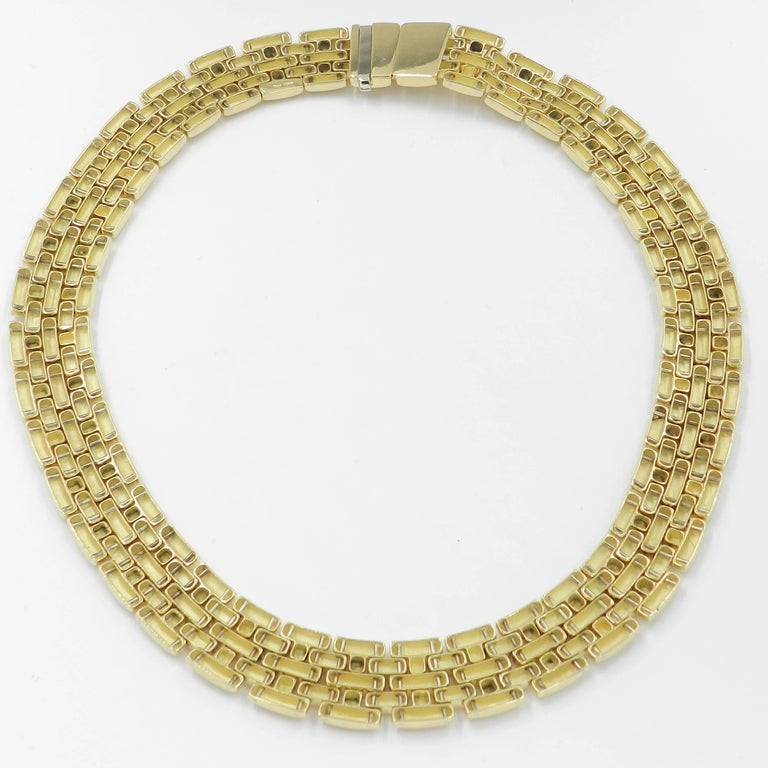 18 Karat Yellow Gold Garavelli Link Necklace In New Condition For Sale In Valenza, IT