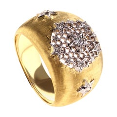 18Kt Yellow Gold Leonardo Da Vinci Cut Ginevra Diamond Ring