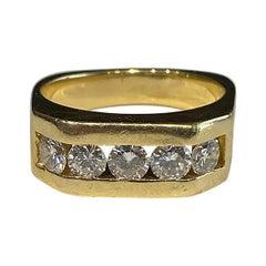 18kt Yellow Gold Mens Diamond Ring