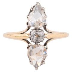 18kt Yellow Gold Rose Diamond Duchess Ring
