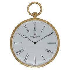 18kt Yellow Gold Vacheron Constantin Pocket Watch Cal 1015, 59001 Manual Winding