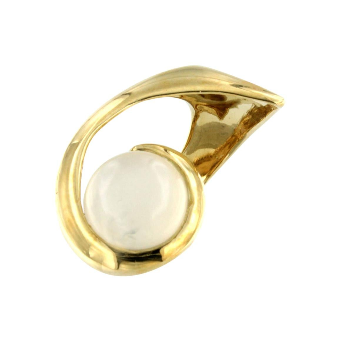 18Kt Yellow Gold with Moonstone Ring