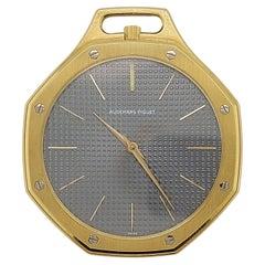 18kt Yellow Octagonal Gold Audemars Piguet Royal Oak Pocket Watch