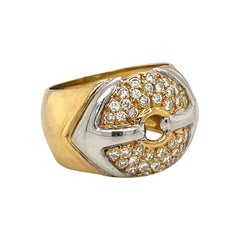 18KT Yellow & White Gold Ring with 0.63CT. Diamonds